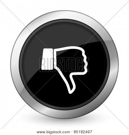 dislike black icon thumb down sign