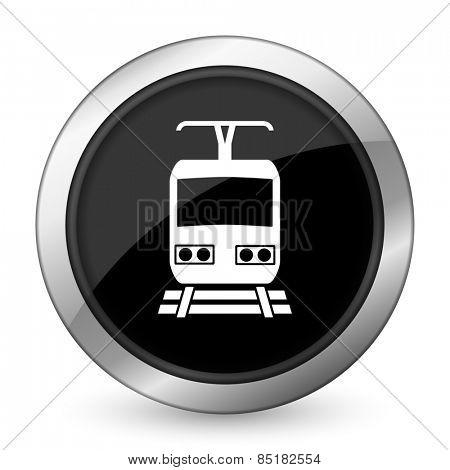train black icon public transport sign