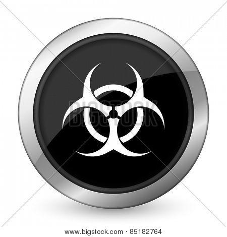 biohazard black icon virus sign