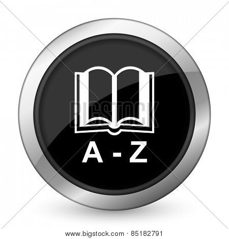 dictionary black icon