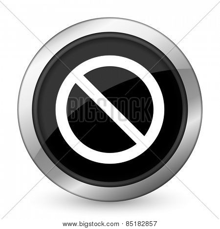 access denied black icon