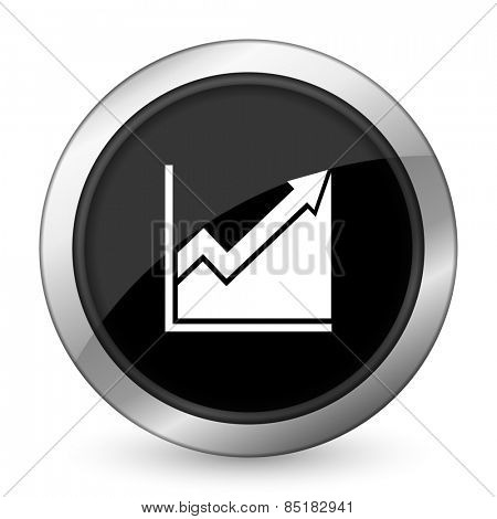 histogram black icon stock sign