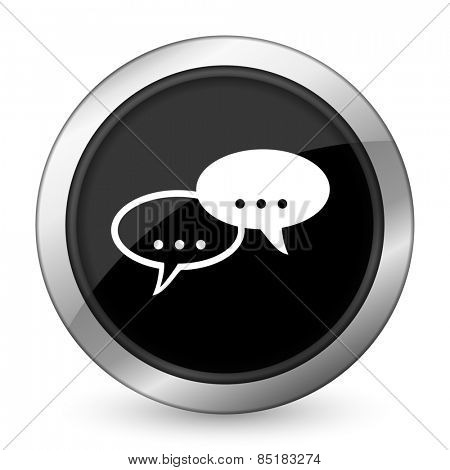 forum black icon chat symbol bubble sign