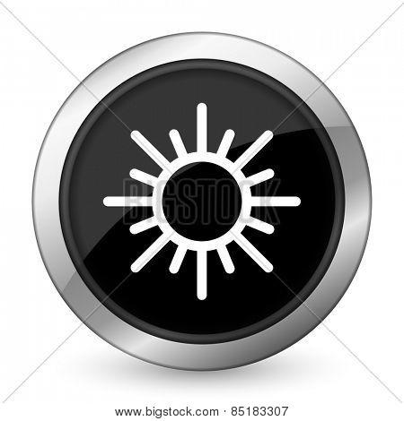 sun black icon waether forecast sign