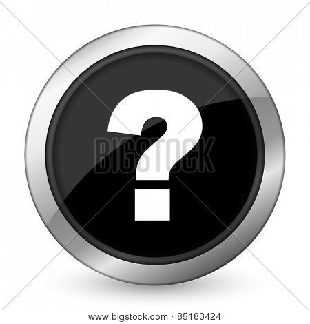 question mark black icon ask sign