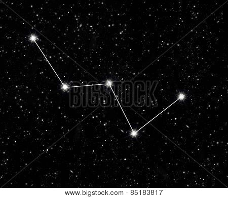 constellation Cassiopeia against the starry sky