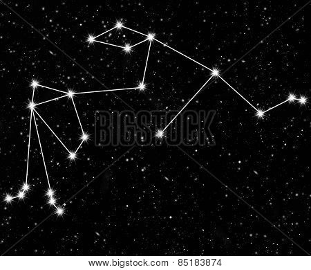 constellation Aquarius against the starry sky