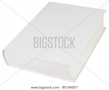 Empty Hardbook Cover Isolated with Clipping path