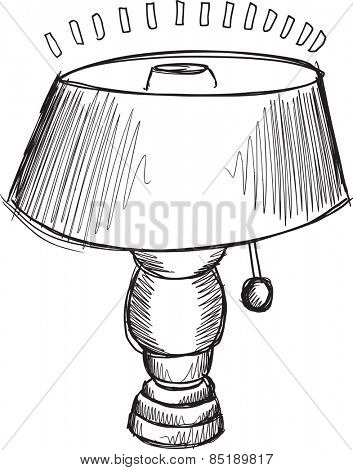 Doodle Sketch Lamp Vector Illustration Art