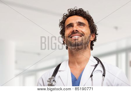 Portrait of a doctor in an hospital