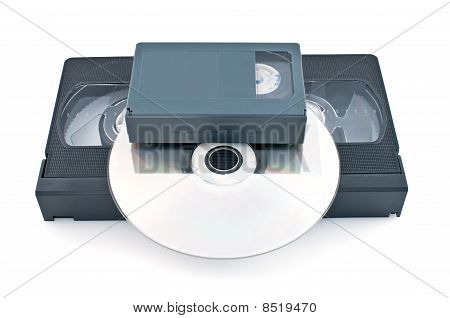 Compact Videocassette, Vhs And Dvd