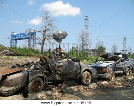 Hurricane Katrina - Lower Ninth Ward Cars