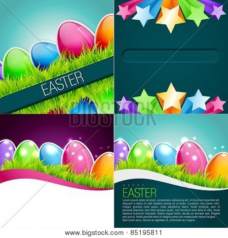 vector bunch of funky easter background illustration