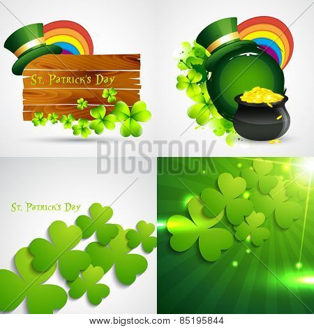 vector collection of st. patrick's  day background illustration