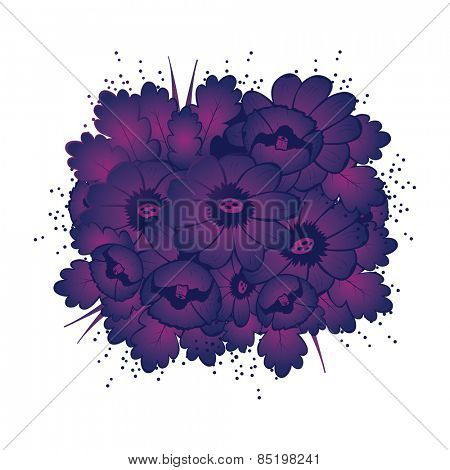 Pattern with violet flower