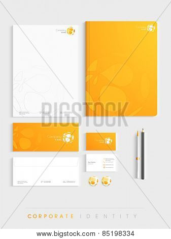 Creative corporate identity kit includes Letterhead, Envelope, Business Card and File Folder with Business Symbol.
