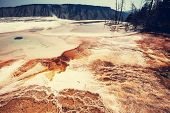 picture of mammoth  - Mammoth Hot Spring - JPG