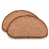 stock photo of fresh slice bread  - Slice of fresh rye bread isolated on white background cutout - JPG