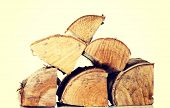 picture of wood pieces  - Stack of wood pieces - JPG