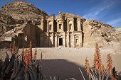 stock photo of petra jordan  - The Monastery in the Petra area of Jordan - JPG