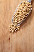 picture of soy bean  - scoop of the soy beans - JPG
