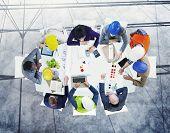 foto of workstation  - Brainstorming Planning Partnership Strategy Workstation Business Administration Concept - JPG