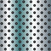 picture of metal grate  - Concept conceptual blue abstract metal stainless steel aluminum perforated pattern texture mesh background as metaphor to industrial - JPG