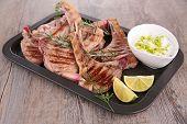 pic of lamb chops  - grilled lamb chop - JPG