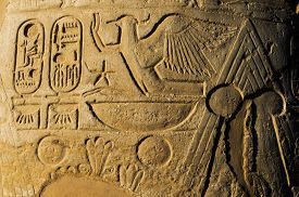 foto of hieroglyphic  - old egypt hieroglyphs carved on the stone - JPG