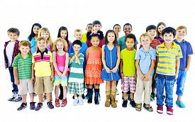 picture of diversity  - Ethnicity Diversity Group of Kids Friendship Cheerful Concept - JPG