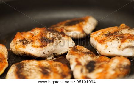Close-up Of Grilled Chicken Breast With Spices