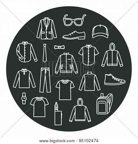 Collection Of Men's Clothes And Accessories