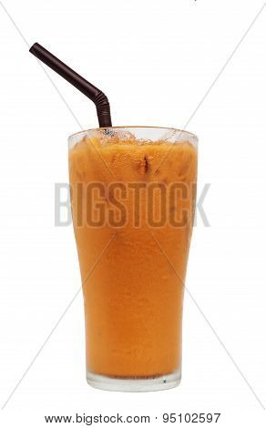 Ice Milk Tea, Isolated, Clipping Path
