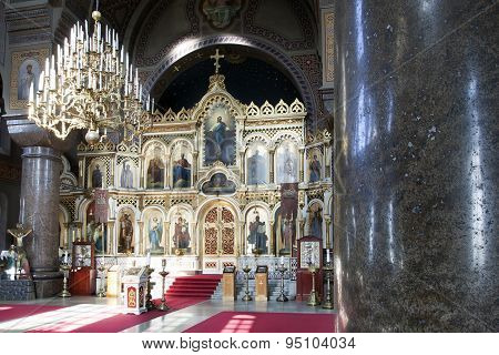 Interior Of Uspensky Cathedral In Helsinki