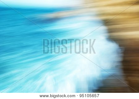Abstract Blured Motion- Big Waves