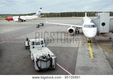 Airplanes On Helsinki Vantaa Airport