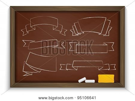 Chalkboard With Ribbons