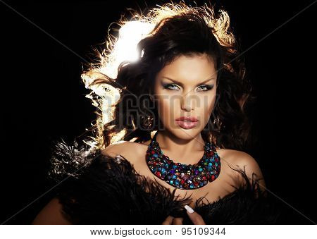 Woman With Feather Shawl