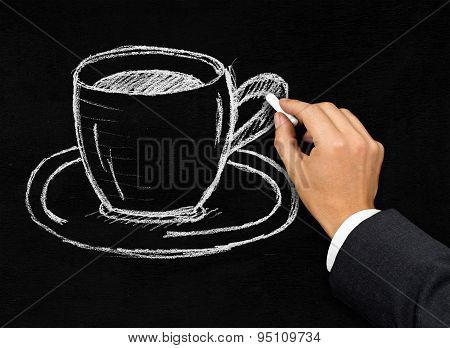 Cup Of Coffee Or Tea Representing Coffee Break