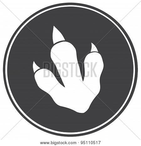 Dinosaur Paw Print Circle Banner Design