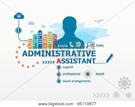 Administrative Assistant Concept And Business Man.