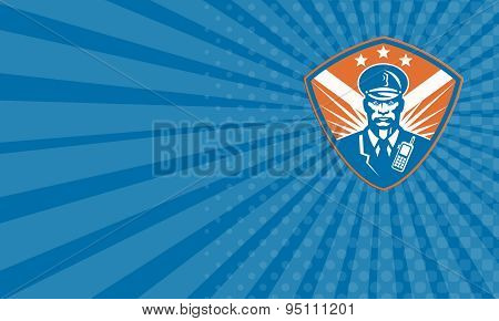 Business Card Policeman Security Guard Police Officer Crest