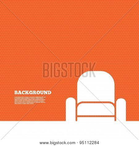 Armchair sign icon. Modern furniture symbol.