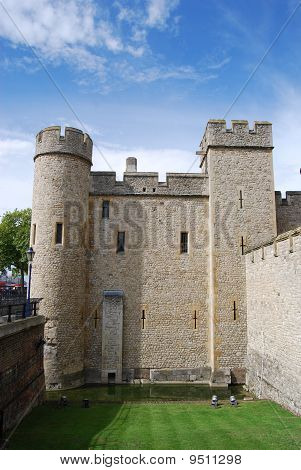 Medieval Turrets At Tower Of London