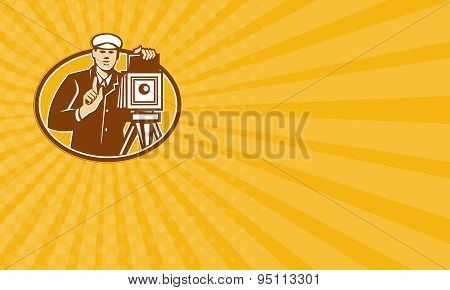 Business Card Photographer Vintage Camera Front Retro