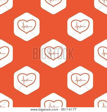 Orange hexagon cardiology pattern
