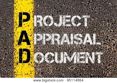 Business Acronym Pad As Project Appraisal Document