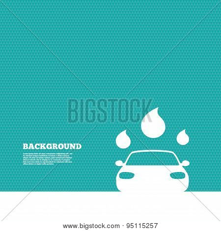 Car wash sign icon. Automated teller. Water drop