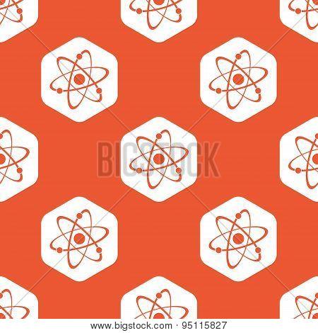 Orange hexagon atom pattern