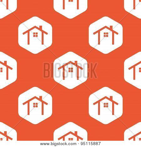 Orange hexagon cottage pattern